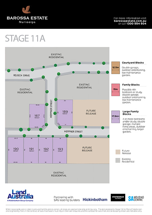 Barossa Estate Land Release Stage 11A